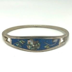 1950s Sterling TAXCO Mexico Turquoise Bracelet